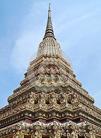Free Angle Of Pagoda At Wat Pho , Bangkok In Thailand Stock Photo - 21098650
