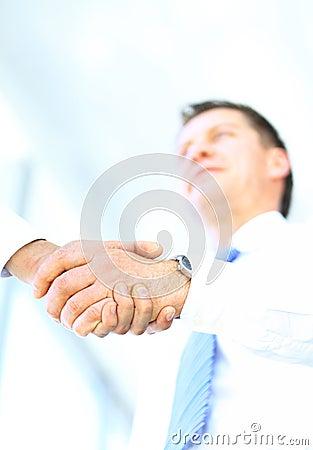 Angle-shot of shake hands