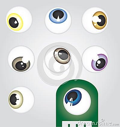 Free Angled Eyeballs Royalty Free Stock Images - 24756319