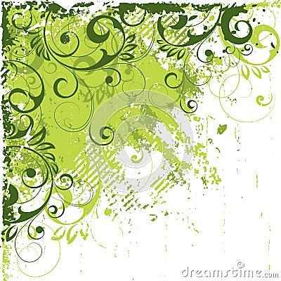 Angled green abstract