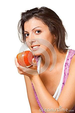 Angled Profile Woman Fruit