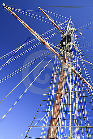 Free Angled Tall Ship Yards Royalty Free Stock Photos - 17828658