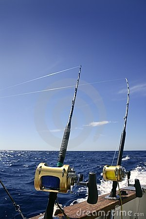 Angler Boat Big Game Fishing In Saltwater Royalty Free Stock Photos ...