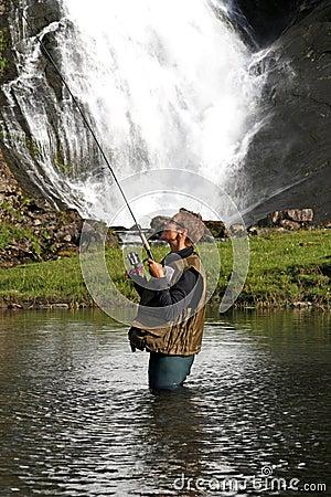 Angler in a river