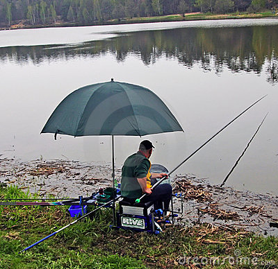 Anglers competition Editorial Stock Image