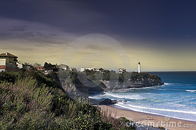 Anglet and the lighthouse