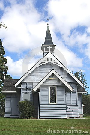 Very old tiny wooden Australian church