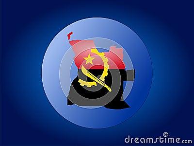 Angola globe illustration