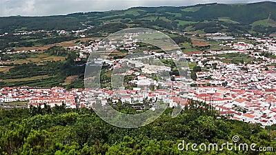 Angra do Heroismo und Marina D`Angra, Terceira, Azoren stock video