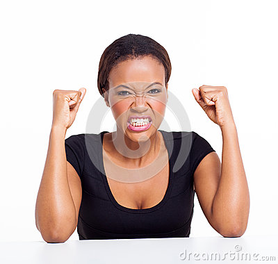 Free Angry African Woman Royalty Free Stock Photos - 33489558