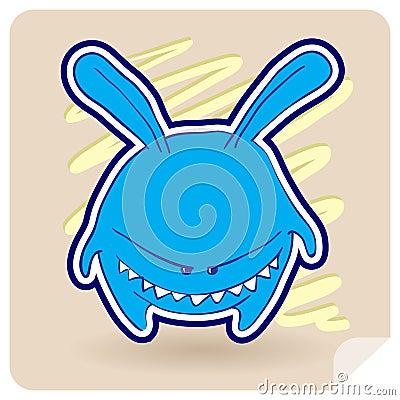 Angry animal rabbit