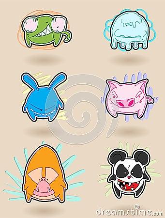 Angry animals anime
