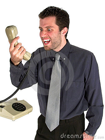 Free Angry At The Phone Stock Photo - 1171130
