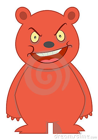Angry Bear Cartoon Character Illustration