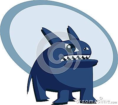 Angry blue beast