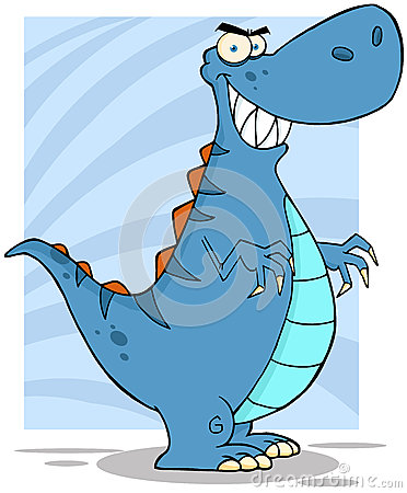 Angry Blue Dinosaur