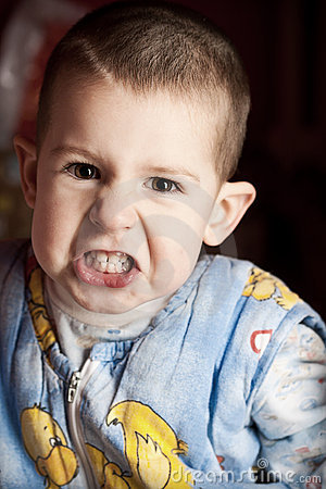 Free Angry Boy Royalty Free Stock Image - 22807006