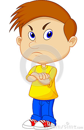 Free Angry Boy Cartoon Royalty Free Stock Photography - 36399447