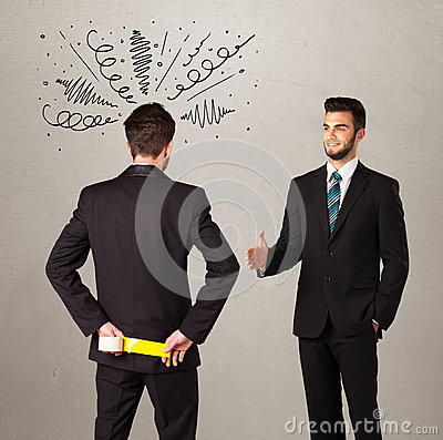 Free Angry Business Handshake Concept Stock Photos - 46918133