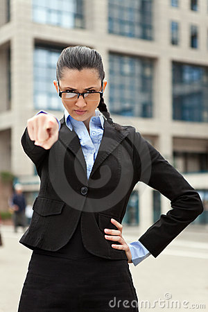 Angry business woman