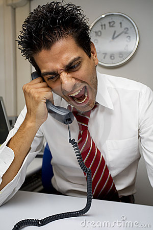 Free Angry Businessman Royalty Free Stock Photo - 1138345