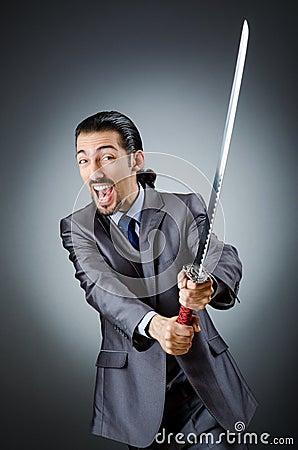 Angry businessman