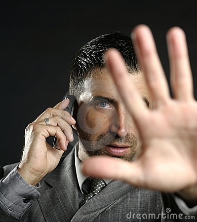 Free Angry Businessman Saying Stop, Hand Stock Photos - 7712113