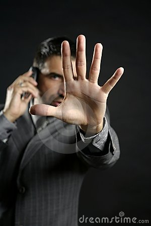 Free Angry Businessman Saying Stop, Hand Stock Photos - 7942663