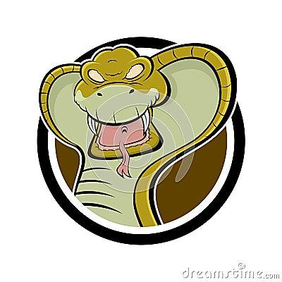 Angry cartoon cobra