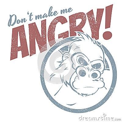Angry cartoon gorilla