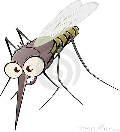 Free Angry Cartoon Mosquito Stock Images - 18124404