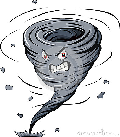 Angry Cartoon Tornado Stock Vector - Image: 45854890