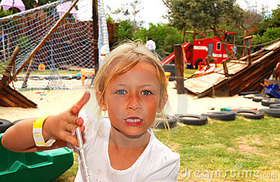 Angry Child On Playground Stock Photography - Image: 9567342