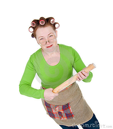 Angry crazy  housewife