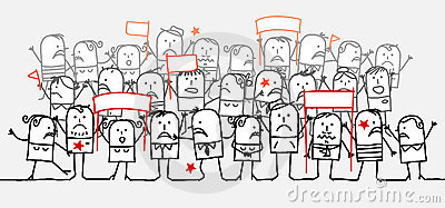 Angry crowd