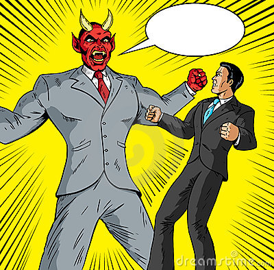 Angry Demon businessman