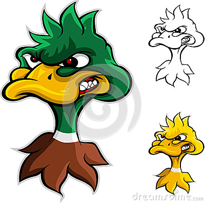 Free Angry Duck Head Cartoon Royalty Free Stock Photo - 27316475