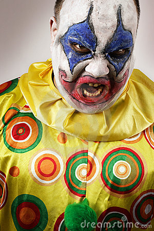 Free Angry Evil Clown Stock Images - 12424974
