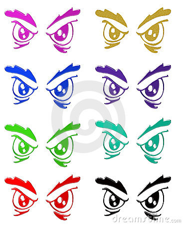 Angry eyes symbols