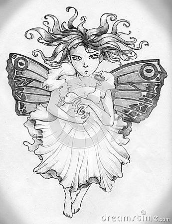 Angry fairy girl