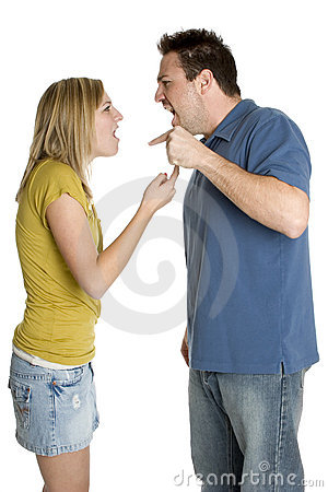Free Angry Fighting Couple Stock Photography - 3709342