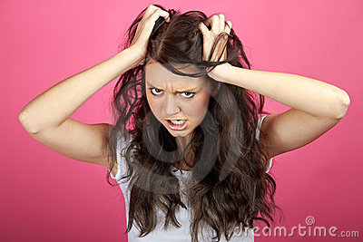 Angry frustrated woman