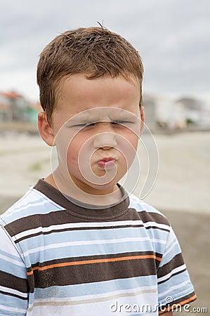 Angry and funny boy
