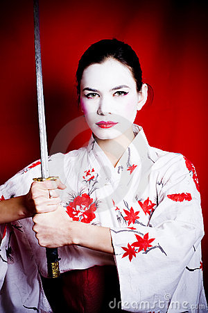 Free Angry Geisha Royalty Free Stock Photos - 6937438