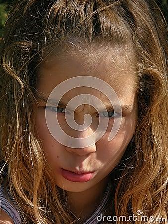 Angry girl