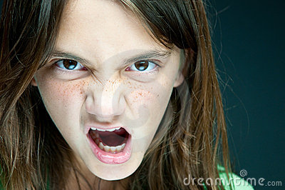 Angry Girl Angry Girl Royalty Free Stock
