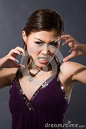 Free Angry Girl Growl Stock Photos - 3103073