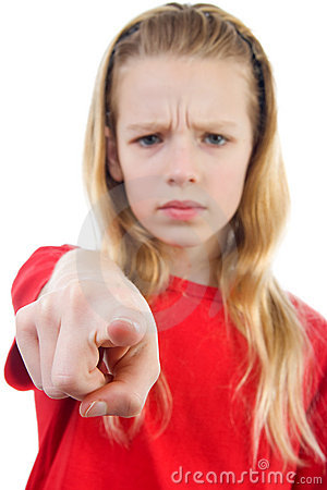 Angry Girl Is Pointing Royalty Free Stock Image - Image ...