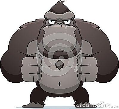 Free Angry Gorilla Royalty Free Stock Photo - 15503515