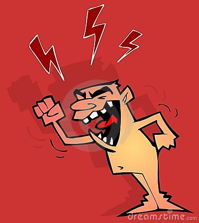 Angry grumpy man